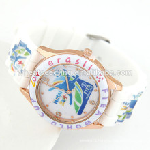 Fashion teenage sports watch cheap silicone watches