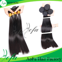 100% Double Weft Stitched Remy Yaki Human Hair Weave
