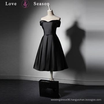 LSQ019 Satin mini women sex party dress for fat girls short front long back formal dress patterns