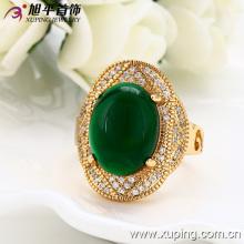 Moda de luxo 18k banhado a ouro homens anel de jóias com cobre ambiental -12846