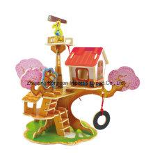 Holz-Sammler-Spielzeug für Heimwerker-Wachtturm-Haus