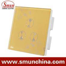 Interruptor do toque da parede de 3 grupos, soquete de parede esperto, para interruptores de controle remoto da casa e do hotel
