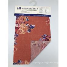 Tecido de malha com padrão floral tecido 100% poliéster