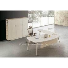 Table de direction moderne de bureau en forme de blanc L Shape (HF-YZ0039)