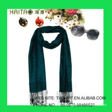 Jaquard silk blue scarf shawl for women