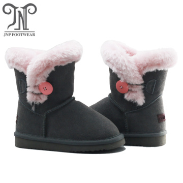 wholesale kids leather winter warm shoes boots