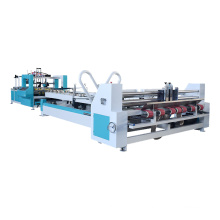 High speed automatic carton flexo folder gluer and stitcher machine
