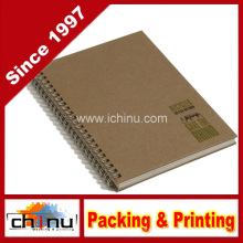 Recycling-Twin Wire Notebook, Tan (520066)