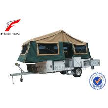 Transmettre de pliante caravane de sol dur