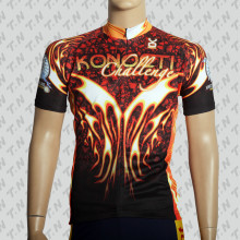 Сублимационная печать Coolmax с коротким рукавом Велоспорт Джерси / Велоспорт одежда