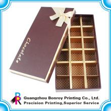 Подгонянная декоративная коробка шоколада упаковывая, бумажная оптовая продажа