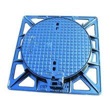 Supply nodular cast iron manhole cover manhole cover road sewer Rain Water grate spot can be customized