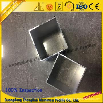 China Aluminum Manufacturs Supplies Stocked Aluminum Square Pipe