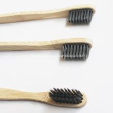 Cepillo de dientes de bambú ecológico verde pequeño cepillo de carbón