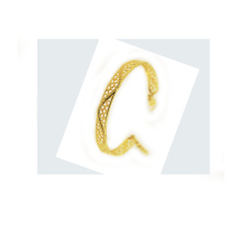 18K Yellow Gold Perforated Bangle