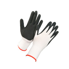 Spandex Nylon Liner Coated Black Sandy Latex Gloves