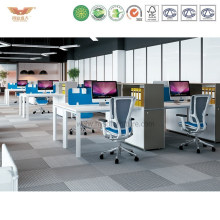 Tipical Wooden Multi Seats Office Cubicles with Alumnium Frame (VOGUE-S-03-1X4)