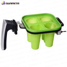 Braçadeira de silício para 3d sublimação pequena braçadeira de vidro de vinho para máquina de sublimação 3d