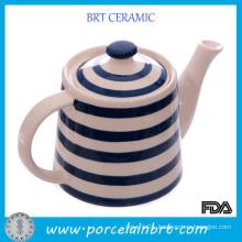 Home Appliance Wholesale Stripe Ceramic Teapots