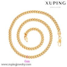 42623 Xuping gros plaqué or hommes chaîne collier bijoux