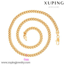42623 Xuping Wholesale Gold Plated Mens Chain Necklace Jewelry