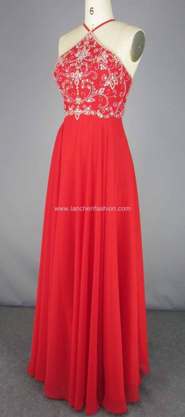 Red Chiffon Dress Mother of the Bride Dresses