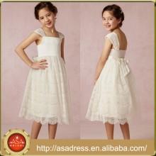BHL01 Vestido Vestido Princesa Vestido Princesa Lace Vestidos Mediados de-Becerro para Niñas de 7 Años de Edad