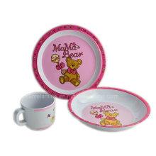 Ensemble de vaisselle pour enfants en mélamine 3PCS