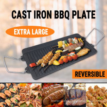Pre-Seasoned Cast Iron Reversible Griddle for BBQ