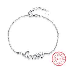 Romantic 925 Sterling Steel Bracelet Letter Design Pendant for Women Hot Sale jewellery