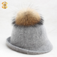 High Quality Wool Felt Women Hat Peaked Cap Equestrian Knight Fashion Hats