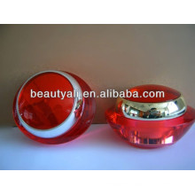 15ml 30ml 50ml Red Cream Cosmetic Acrylic Jar With PP Inner Jar