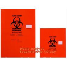 Draw string Biohazard garbage/trash bag for infecciosas/hospital use, biohazardous waste bag