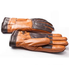 Men′s Fashion Sheepskin Leather Motorcycle Driving Sports Gloves (YKY5189)