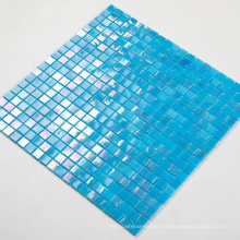 Soulscrafts Blue Square Glass Mosaic for Swimming Pool
