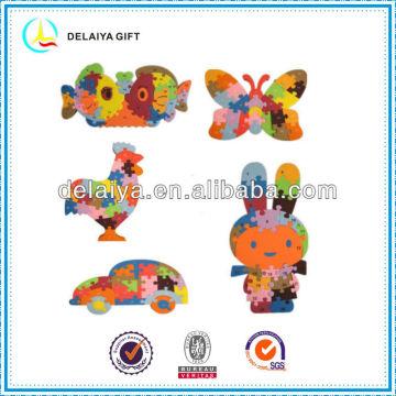 DIY lovely animal EVA foam puzzle educational toys for kids