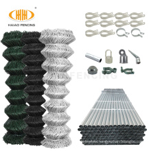 2021 Top-selling PVC coated chain link fence weight per meter cyclone wire fence price philippines
