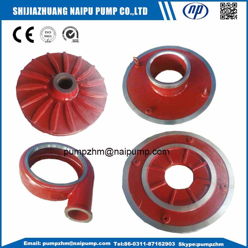AH gold mining slurry pump wet end parts