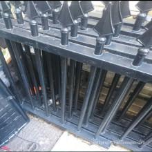 2x 294cm wrought iron metal railings