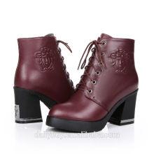 Couro genuíno 2014 botas de inverno das mulheres da forma