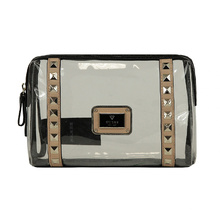 Fashion&Online Women Clear Waterproof Pure Color Zippered Transparent Cosmetic Bag Carry Case Travel Makeup