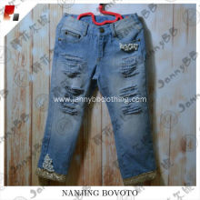 kids fashion jeans pant design distressed jeans