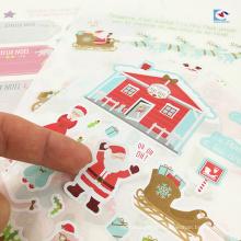 Arte papel crianças etiqueta autocolantes Papai Noel impressão Pai Natal