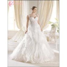 China Custom Made Bridal Luxury Wedding Dress Beach Lace Applique
