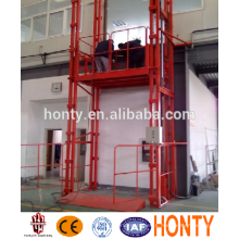 small elevator guide rail warehouse cargo lift for elevators