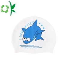 Silicone Children Swim Cap Cartoon imprimé pour les enfants