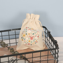 Wholesale logo printed customized canvas packaging bag