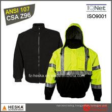 Safety Wear Bomber Jacket Mens Hi Vis 3 in I Jacket