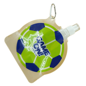 Football Shaped Sports Foldable Water Bottle