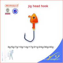 JHL013 diferentes tamanhos artificiais isca de pesca em massa chumbo cabeça gabarito gancho